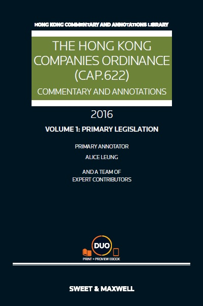 The Hong Kong Companies Ordinance (Cap.622): Commentary & Annotations