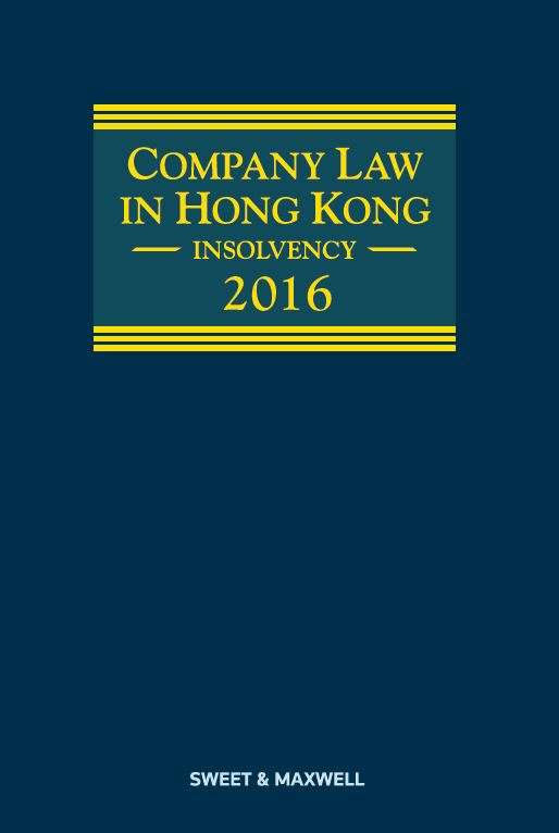 Company Law in Hong Kong - Insolvency 2016