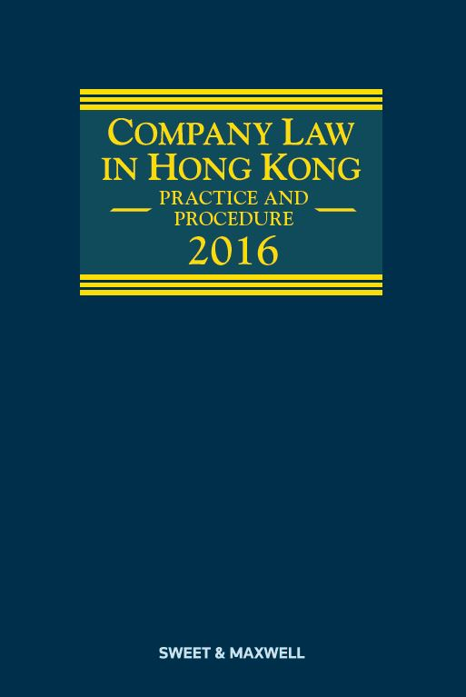 Company Law in Hong Kong - Practice and Procedure 2016